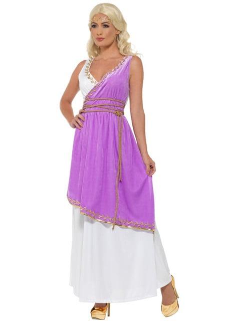 Disfraz de diosa griega morada para mujer - mujer