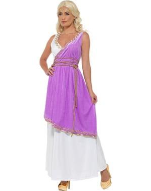 Déguisement déesse grecque violette femme