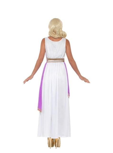 Fioletowy kostium greckiej bogini dla kobiet