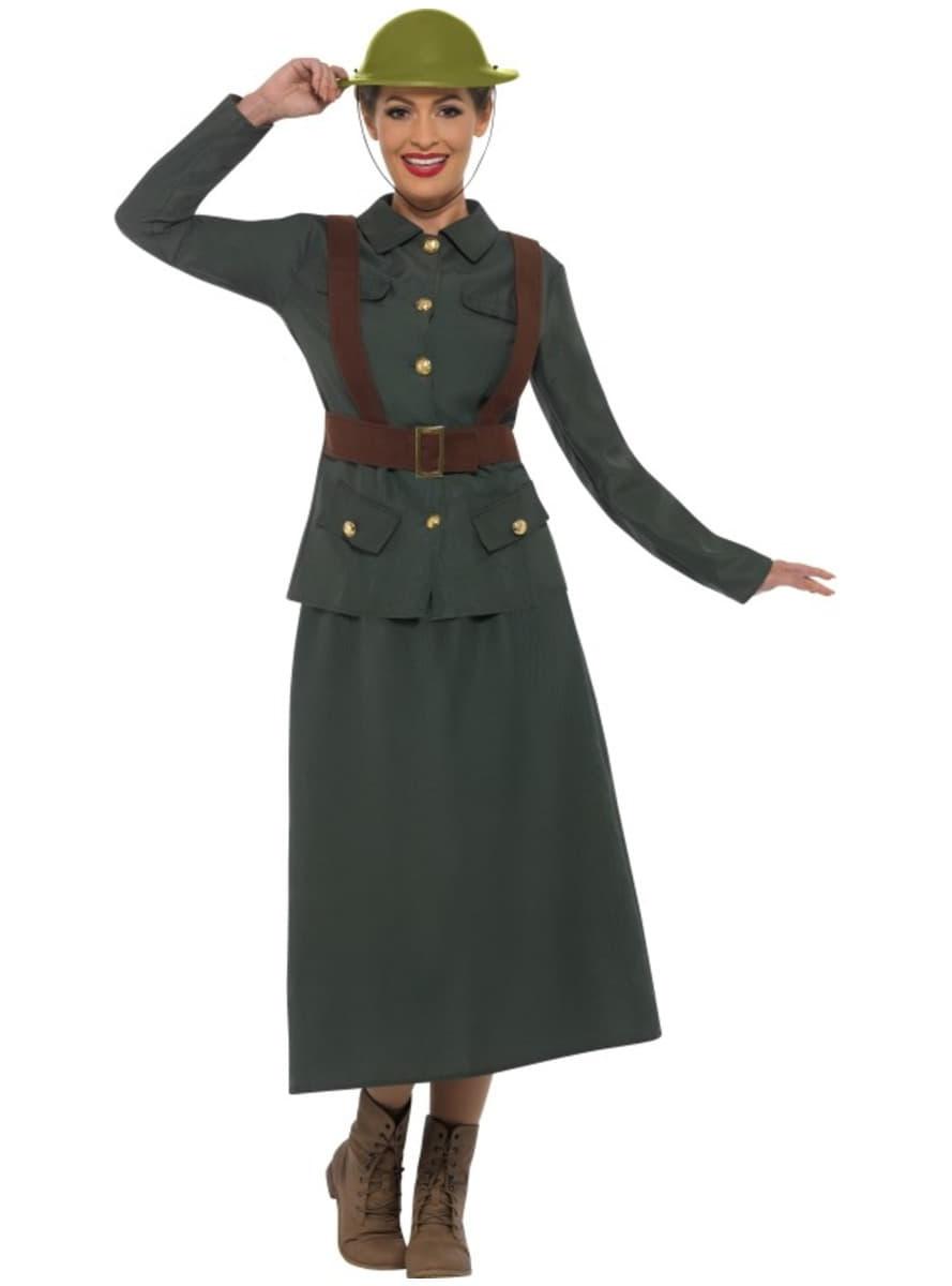 soldatin aus dem zweiten weltkrieg kost m f r damen 24h versand funidelia. Black Bedroom Furniture Sets. Home Design Ideas