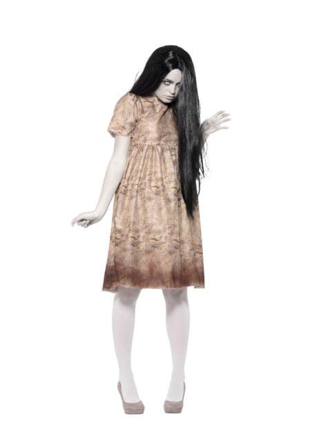 Disfraz de niña del pozo para mujer