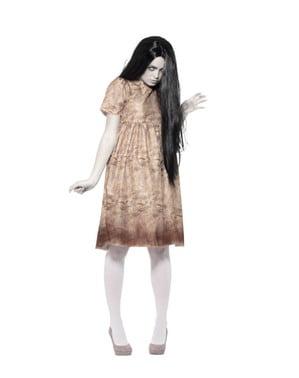 Costume da spirito maligno grigio per donna