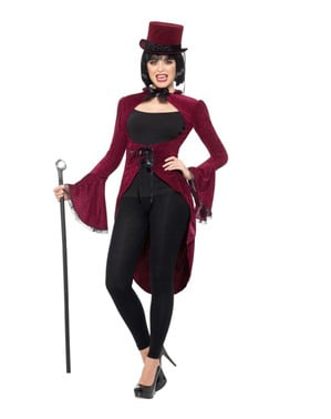 Maroon vampire costume for women