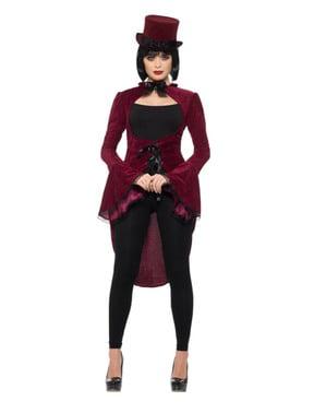 Bordeauxrood vampier kostuum voor vrouw