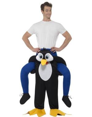 Disfraz de pingüino adorable ride on para adulto