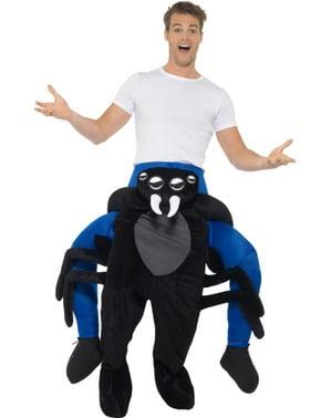 Huckepack Kostüm Spinnen schwarz