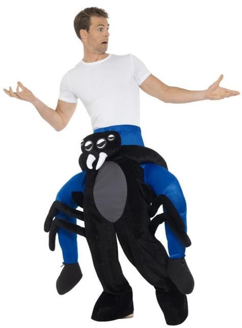 Disfraz de araña negra ride on para adulto