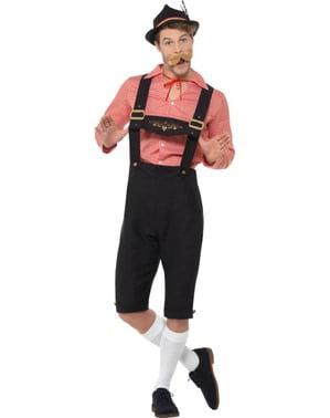 Costume da tirolese felice oktoberfest per uomo