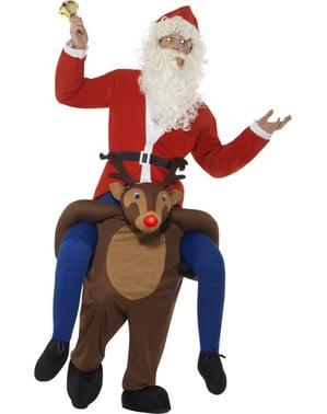 Disfraz a hombros de reno Rudolf para adulto
