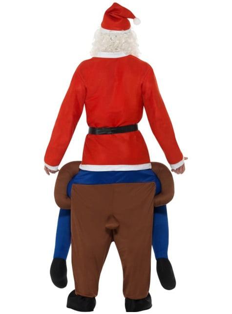 Disfraz de reno Rudolph ride on para adulto - hombre