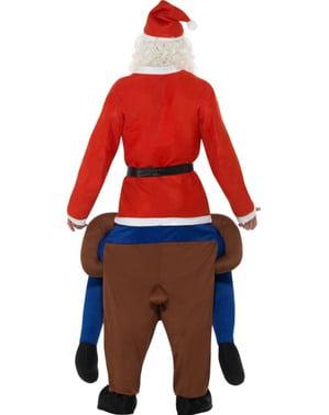 Maskeraddräkt ren Rudolf ride on för vuxen