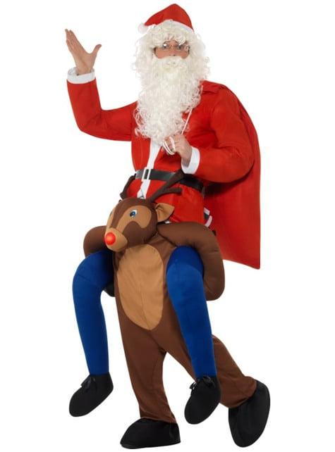 Disfraz de reno Rudolph ride on para adulto - original