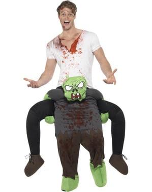 Piggyback Zombie kostuum voor volwassenen