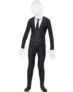 Slenderman tweede huid kostuum voor kinderen
