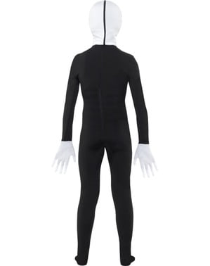 Slenderman second skin costume for kids