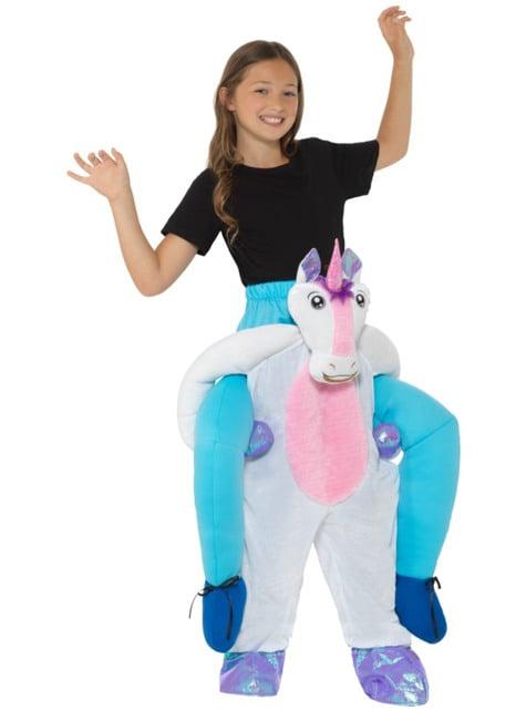 Disfraz de unicornio blanco ride on infantil