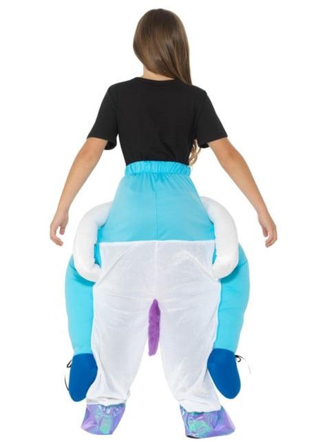 Disfraz de unicornio blanco ride on infantil - original