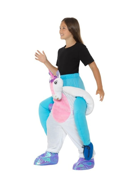Disfraz de unicornio blanco ride on infantil - traje