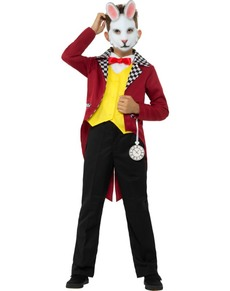Chlapecký kostým bílý pan Králík