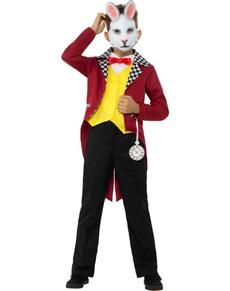 Hvid hr. Kanin kostume til drenge