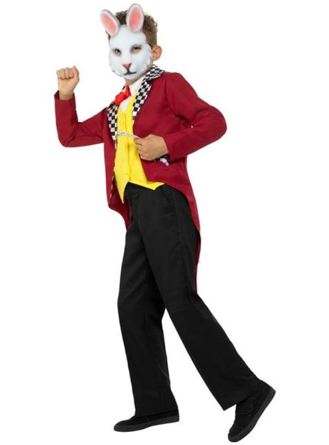 Disfraz de Sr conejo blanco para niño - traje