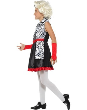 Costum malefica Cruella pentru fată