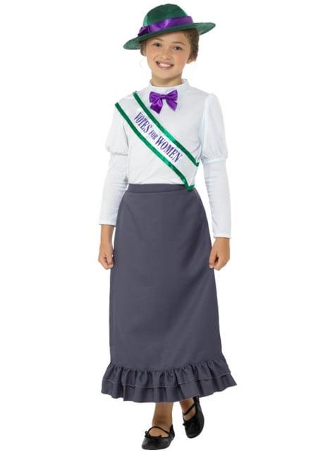 Disfraz de sufragista para niña