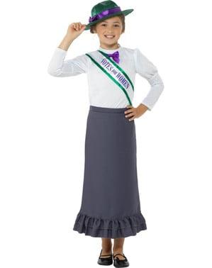 Disfraz de Victoriana sufragista para niña