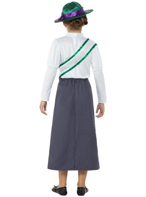 Disfraz de sufragista para niña - original