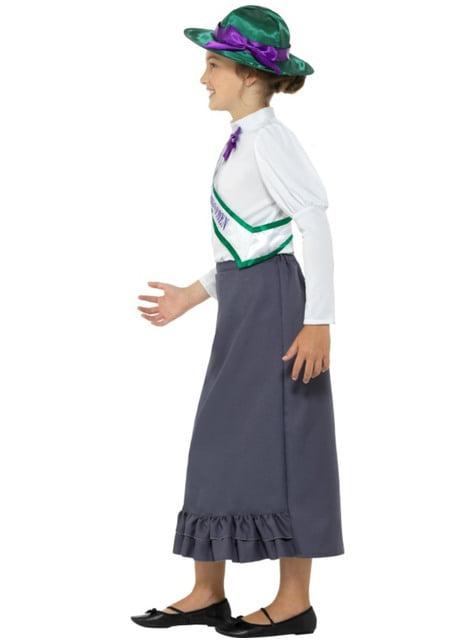 Disfraz de sufragista para niña - traje