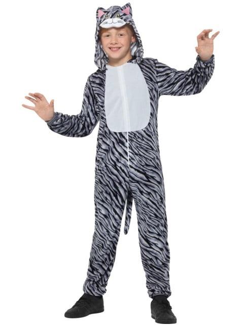 Disfraz de gatito rayada gris infantil - infantil