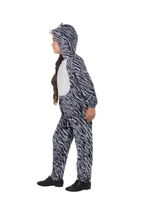 Disfraz de gatito rayada gris infantil - traje