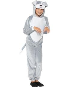 Disfraz de perrito gris infantil