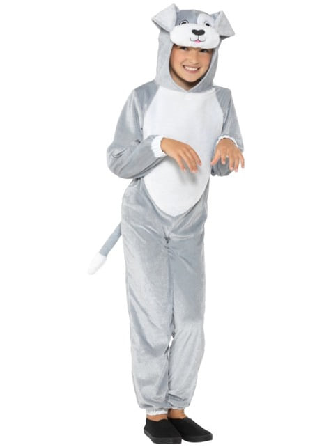 Grey puppy costume for kids