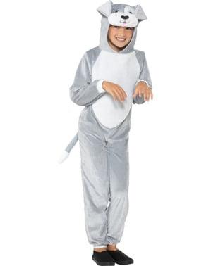 Costum de cățeluș gri pentru copii
