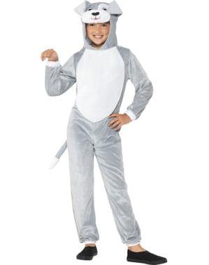Hunde Kostüm grau für Kinder