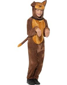 Disfraz de perrito marrón infantil