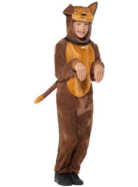 Bruin puppy kostuum voor kinderen