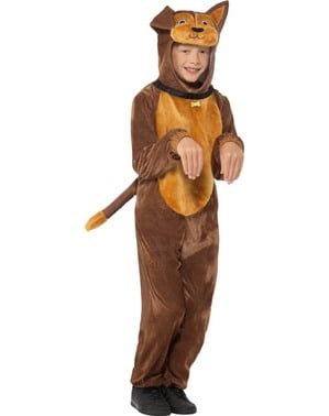Hunde Kostüm braun für Kinder