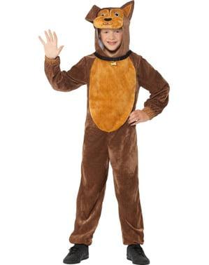 Maskeraddräkt hund brun för barn