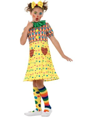 Colourful little clown costume for girls