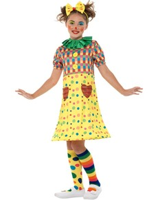 Disfraz de payasita de colores para niña