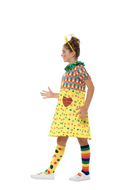 Clown Kostüm bunt für Mädchen
