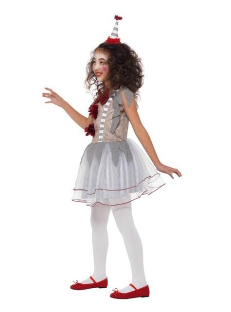 Disfraz de payasita vintage para niña
