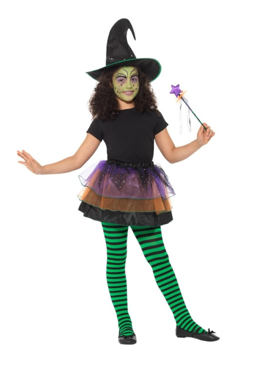 green little witch costume kit for girls. the coolest | funidelia