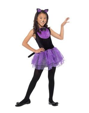 Dívčí kostým s tylovou sukní koťátko