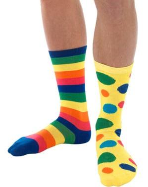 Multi Coloured clown socks