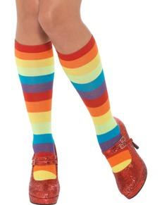 Calcetines de payaso rayados