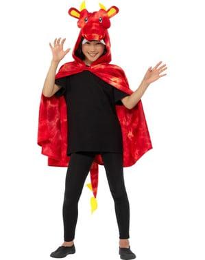Çocuklar için kırmızı ejderha pelerin