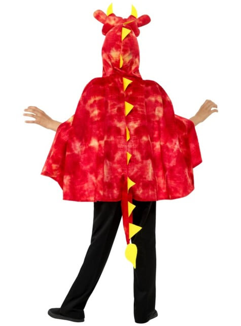 Capa de dragón rojo para infantil - original